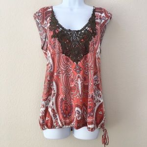 Free People - Embroided Paisley Top/Cami
